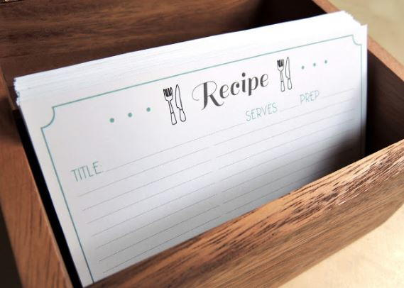 Free Printable Recipe Card Template Diyideacenter Com