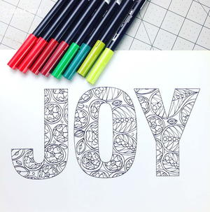 Joy Coloring Sheet