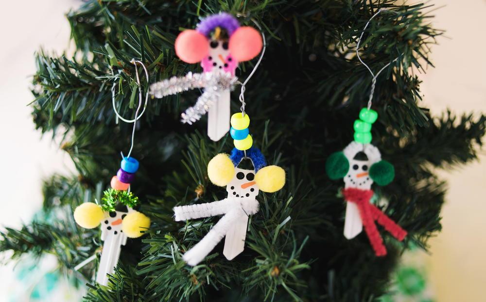 Snowman Key DIY Ornament AllFreeChristmasCrafts