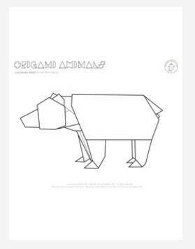 Groovy Origami Bear Coloring Page Favecrafts Com Wiring 101 Olytiaxxcnl