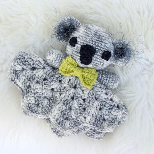 Crochet Pattern Baby Lovey : Cuddly Crochet Koala Baby Lovey AllFreeCrochet.com