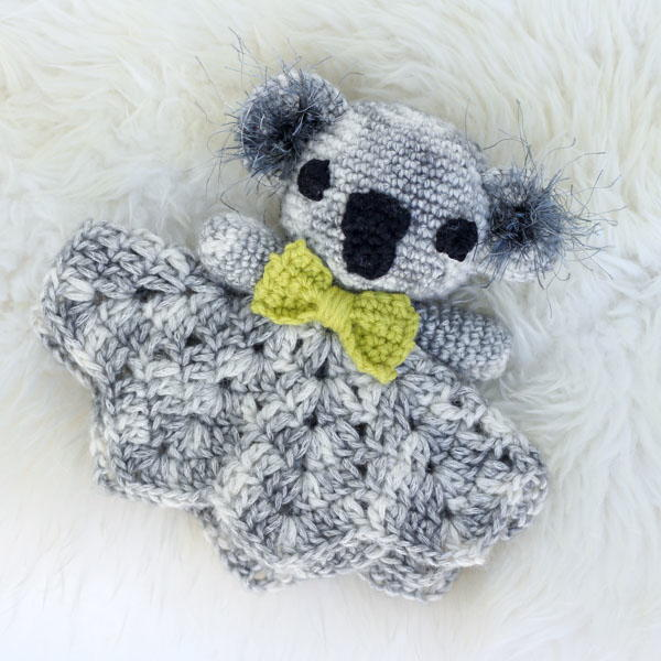 Cuddly Crochet Koala Baby Lovey AllFreeCrochet.com