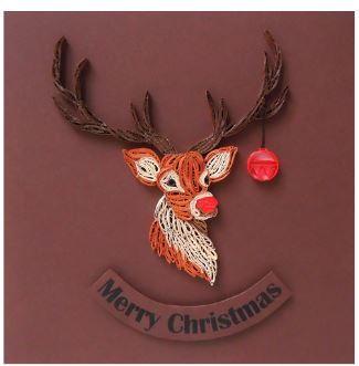 Quilled Rudolph Christmas Card Allfreepapercrafts Com