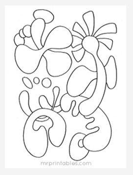Abstract Coloring Page No 2