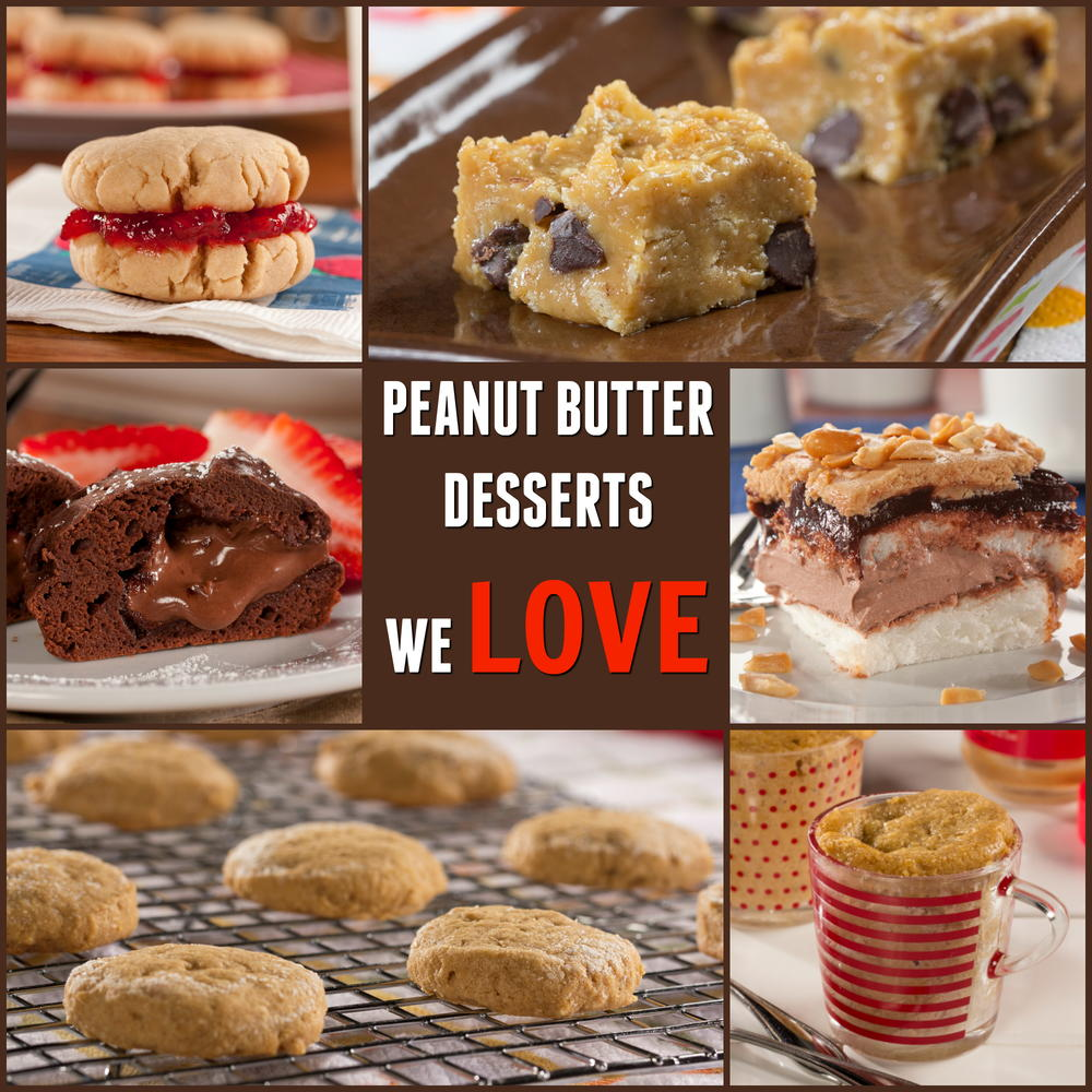 Peanut butter desserts we love for Desserts to make with peanut butter