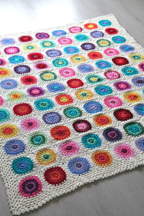 Color Wheel Blanket Crochet Pattern