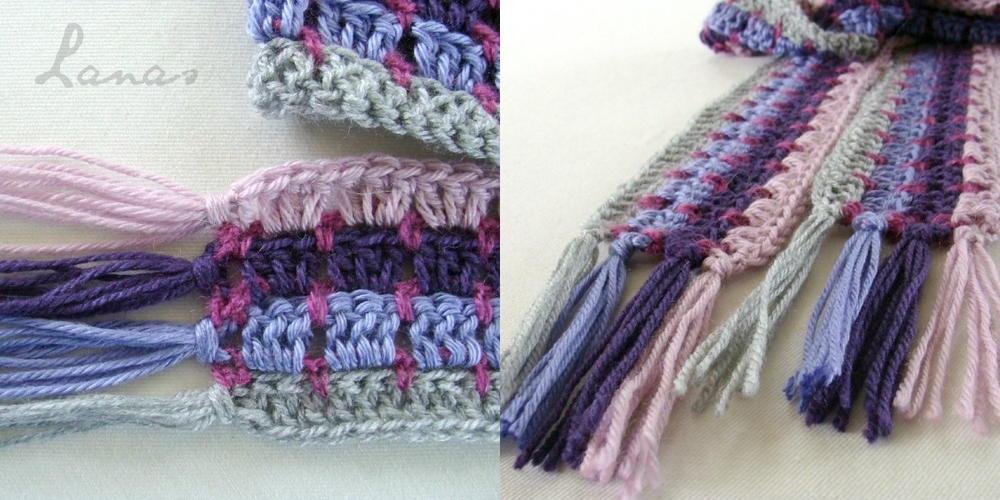 Colorful Mosaic Crochet Scarf Allfreecrochet Com