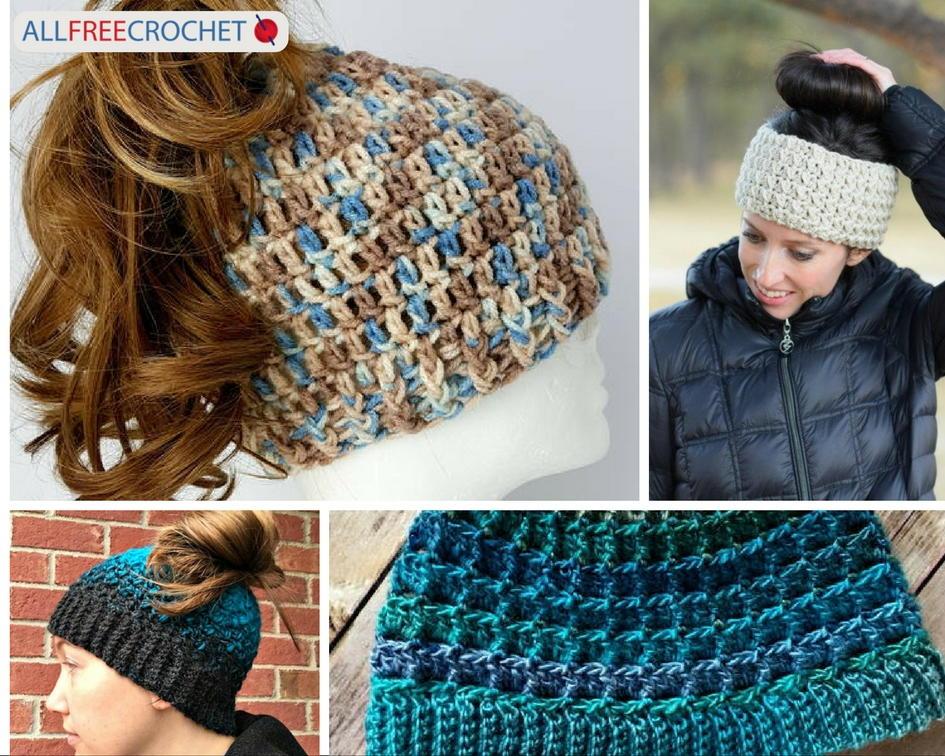 29 Crochet Bun Hat Patterns Allfreecrochet Com