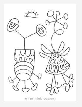 Abstract Coloring Page No 7