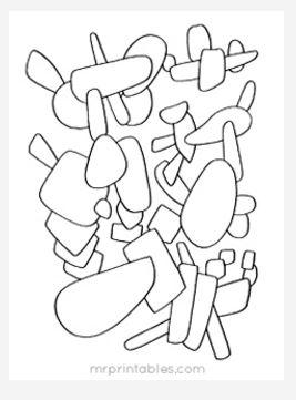 Abstract Coloring Page No. 10