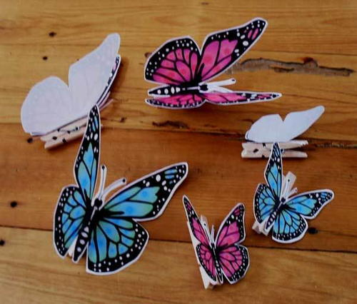 Mini clothespin butterflies for Mini clothespin craft ideas