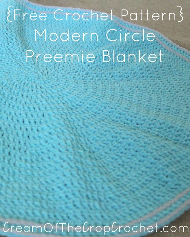 Free Crochet Patterns For Baby Pram Blankets : Modern Circle Preemie Blanket AllFreeCrochet.com
