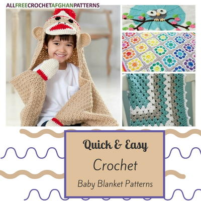 30 Quick and Easy Crochet Baby Blanket Patterns