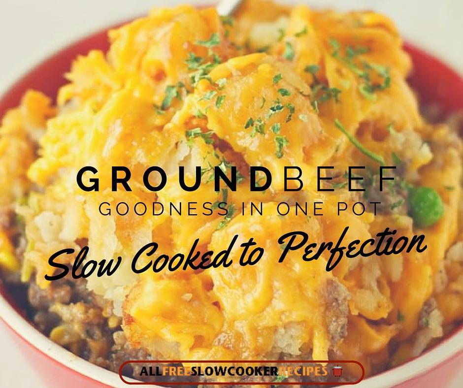 Ground beef crock pot recipes easy