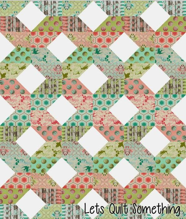 Free Quilting Patterns For Spring : Scandinavian Spring Quilt Pattern FaveQuilts.com