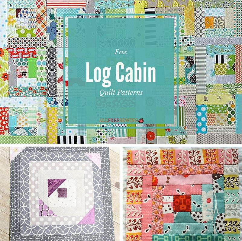 Free Quilting Patterns For Log Cabin Cliefo For