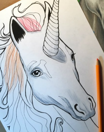 Beautiful horned animal Unicorn Printable Coloring Pages for Kids ... | 508x399