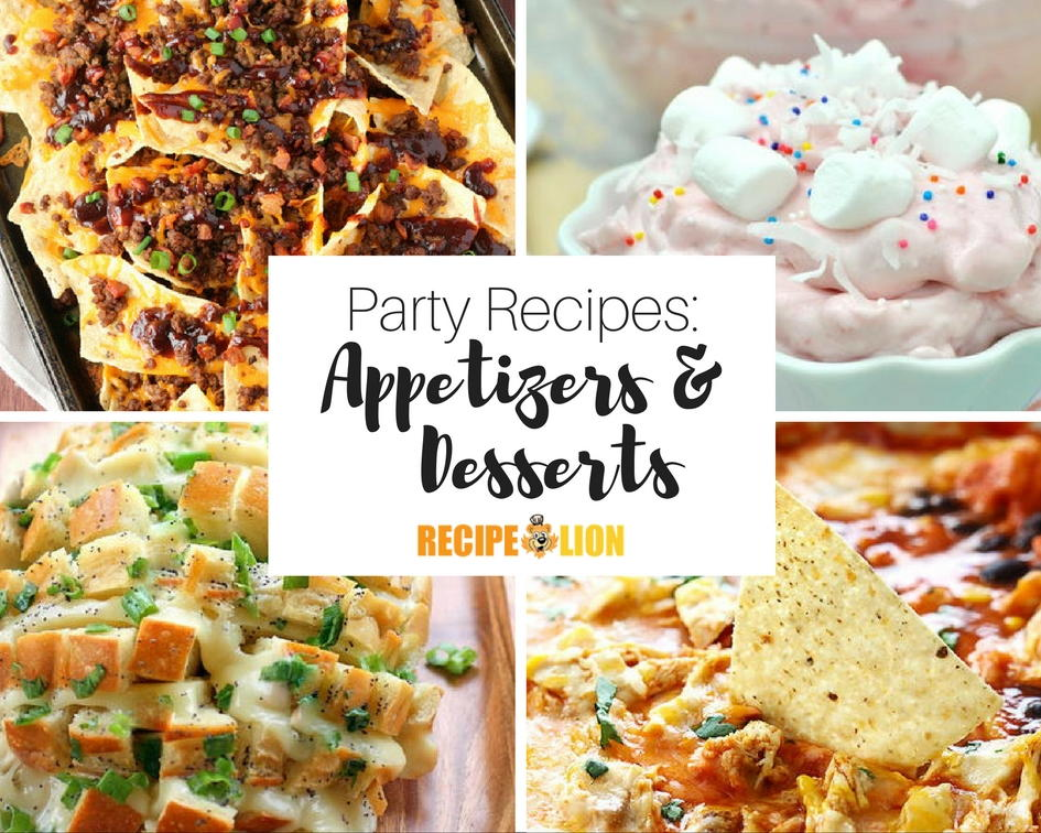33 appetizer party recipes and easy dessert recipes for Appetizer recipes easy party appetizers