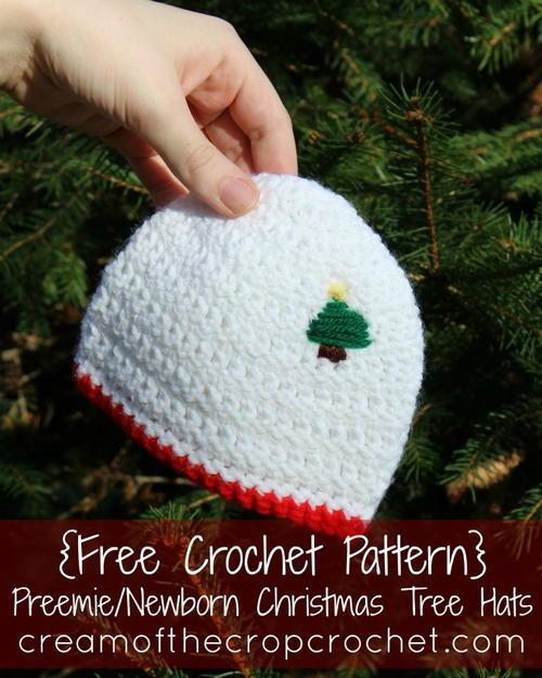 Free Crochet Christmas Tree Hat : Preemie/Newborn Christmas Tree Hat AllFreeCrochet.com