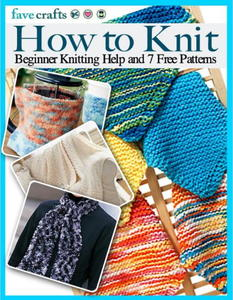 """How to Knit: Beginner Knitting Help and 7 Free Patterns"""