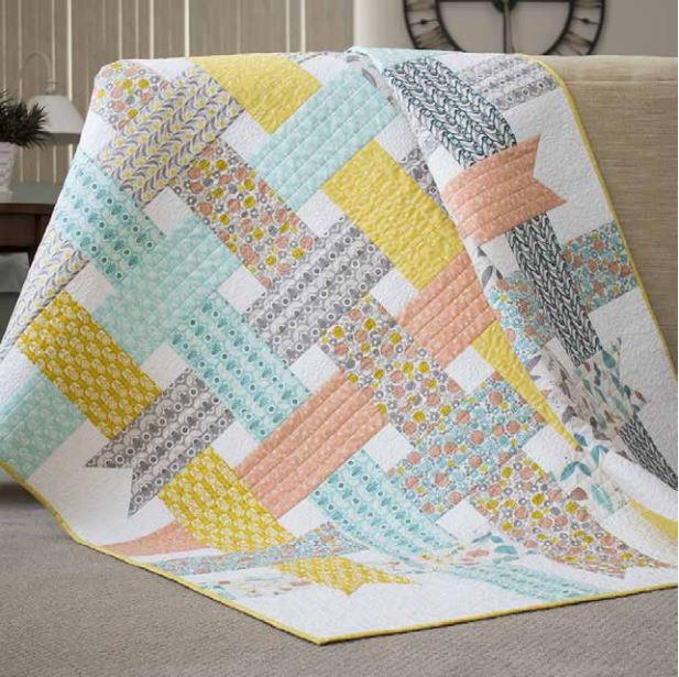Nordic ribbons baby quilt pattern for How to make a quilt template