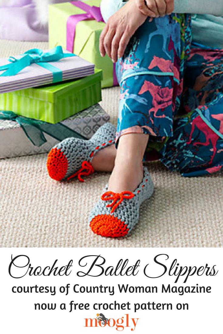 Crochet Ballet Slippers Allfreecrochet Com