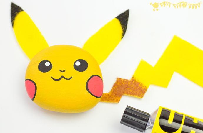 Pikachu Pebble Pokemon Craft