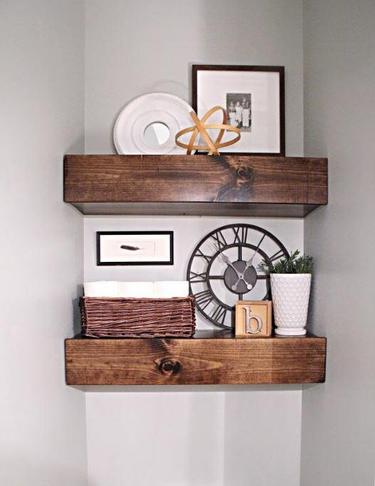 how to make floating shelves diy