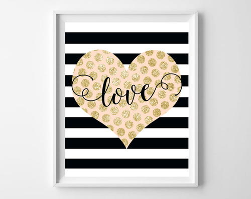Love & Stripes Valentine's Day Free Printables