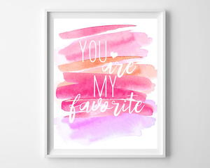 Watercolor Valentine's Day Printable Art