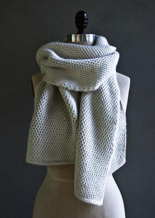 elegant tunisian crochet scarf allfreecrochetcom