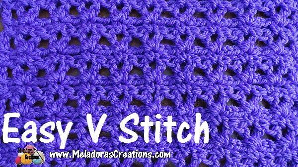 Easy V Stitch Allfreecrochet Com