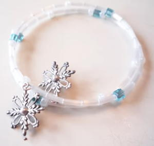 Winter Memory Wire Bracelet