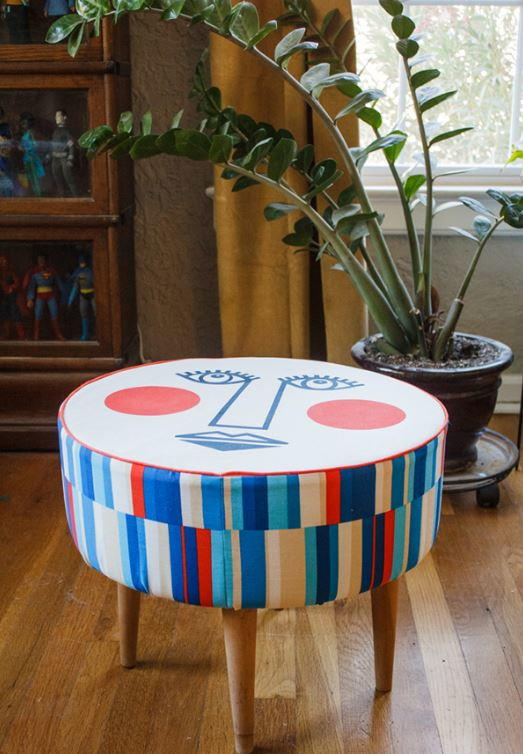 Astounding Mid Century Modern Ottoman Allfreesewing Com Machost Co Dining Chair Design Ideas Machostcouk