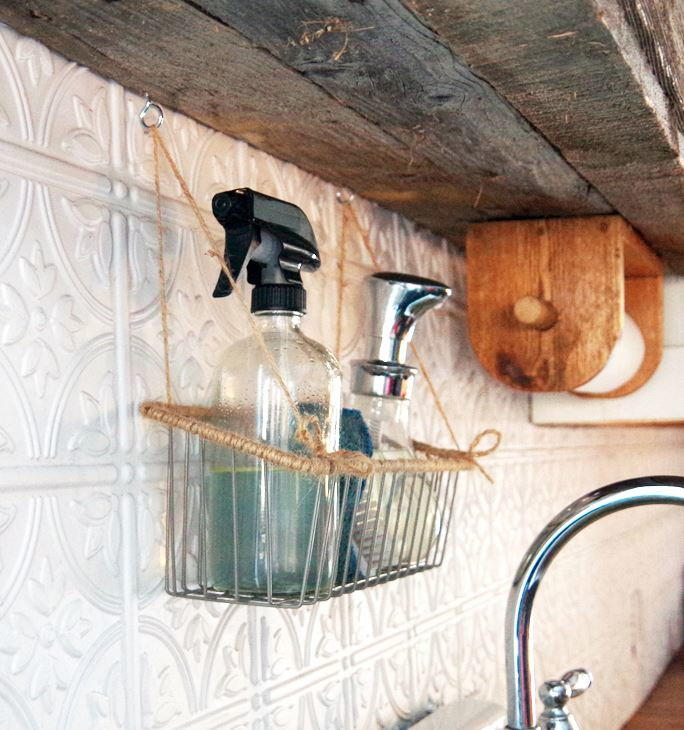 life-changing kitchen hanging basket | diyideacenter