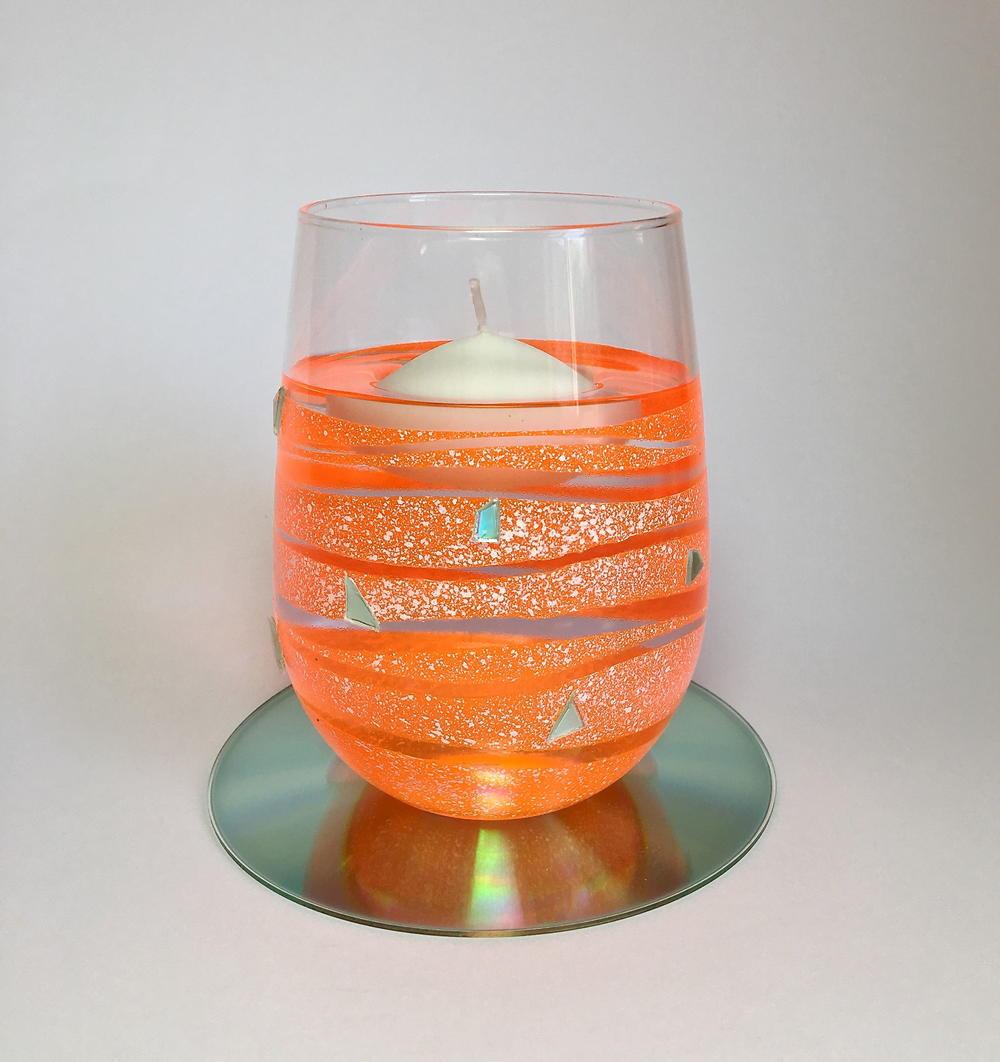 Tangerine Floating Candle Holder
