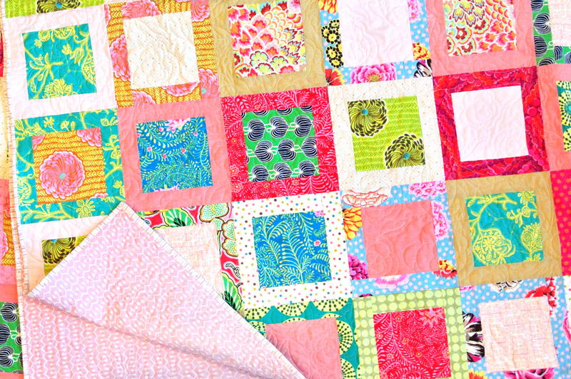 Simple Square in a Square Block FaveQuilts.com