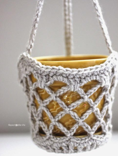 Flower Pot Hanging Basket Allfreecrochet Com