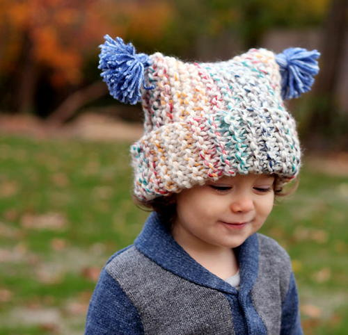 Free Knitting Pattern Garter Stitch Hat : Hudson Bay Garter Stitch Hat AllFreeKnitting.com