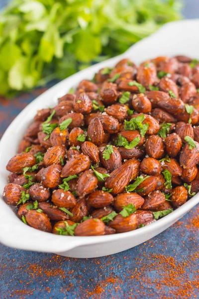 Easy Chili Almonds | FaveSouthernRecipes.com