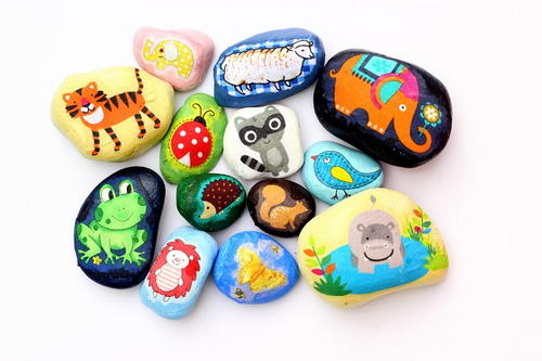 Fabric Scrap Pebbles