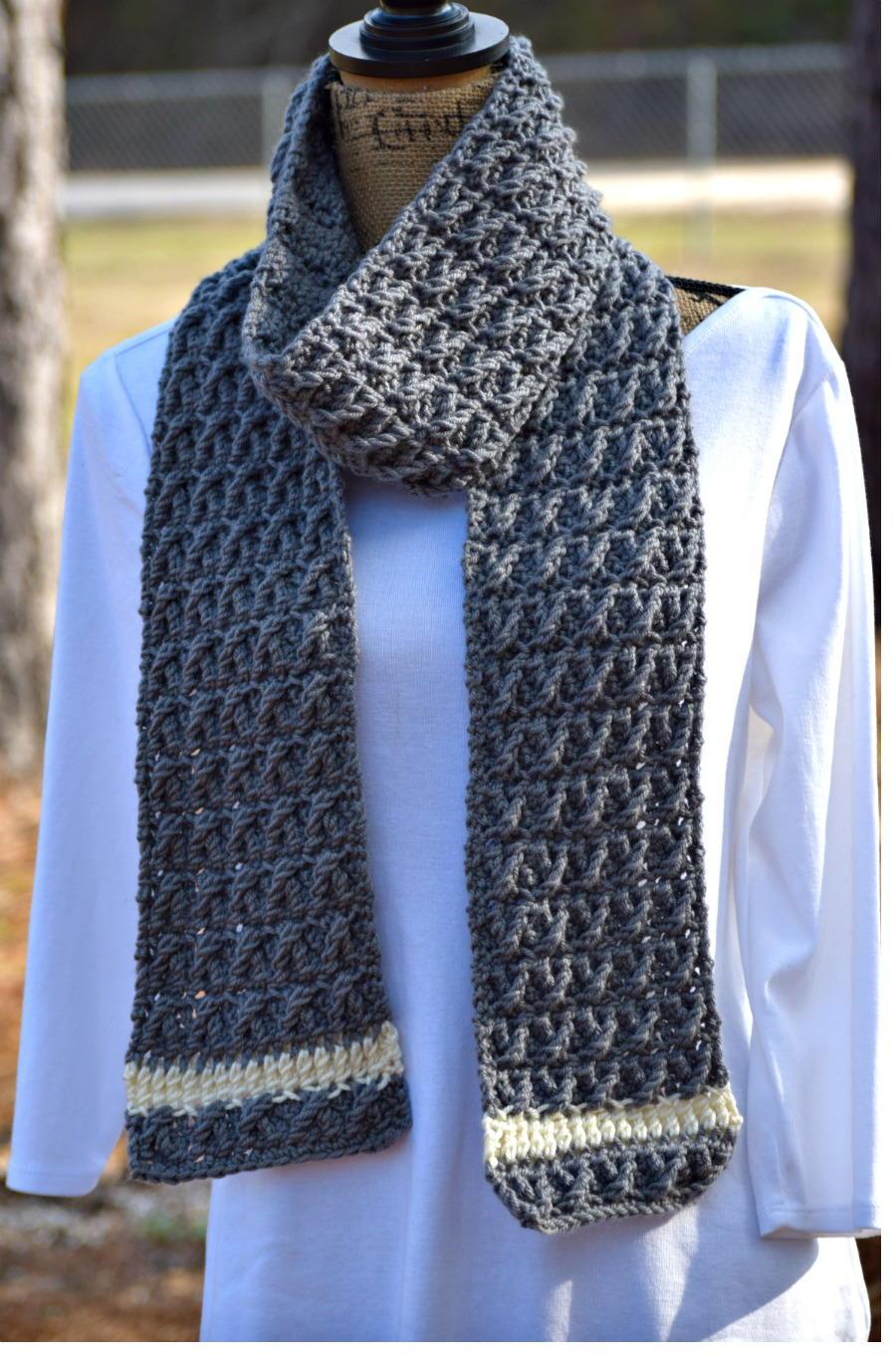 s scarf allfreecrochet