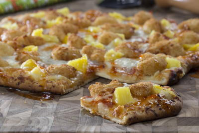 Polynesian Popcorn Shrimp Pizza