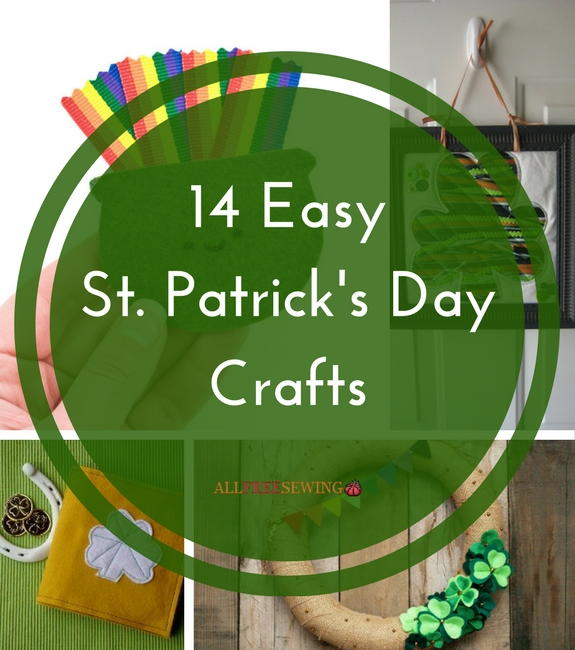 14 Easy St Patrick S Day Crafts Allfreesewing Com