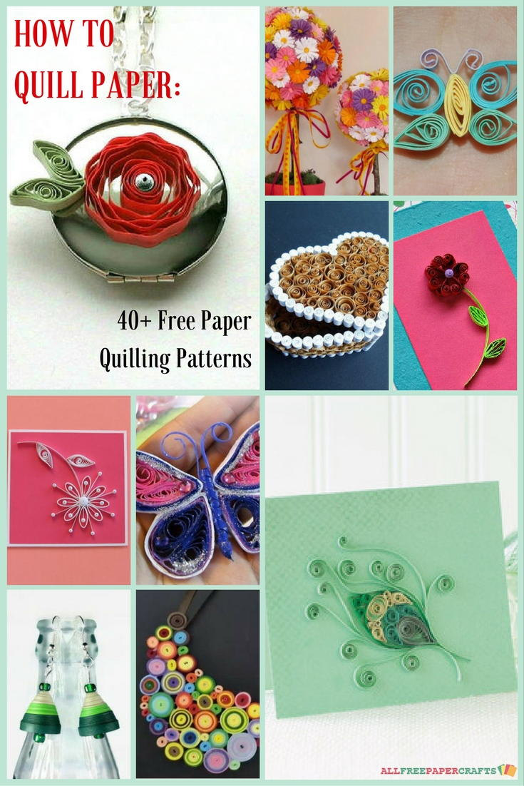 Paper Quilling Book Cover : How to quill paper free quilling patterns