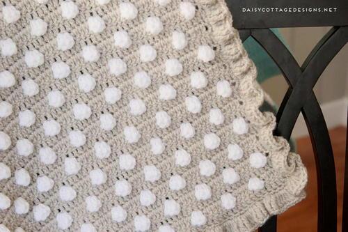 Polka Dot Puff Crochet Blanket Allfreecrochet Com