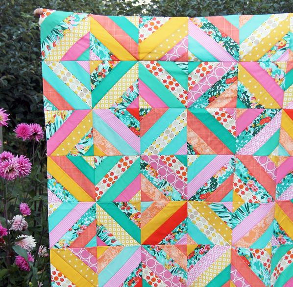 Diagonal Strip Quilt Tutorial Favequilts Com