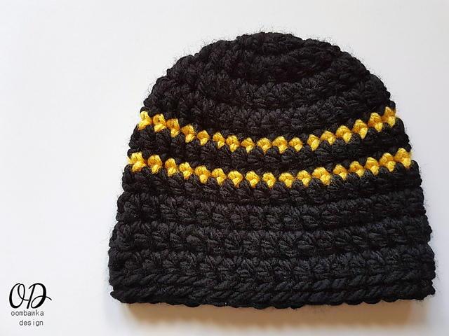 Boys Simple Striped Hat Allfreecrochetcom