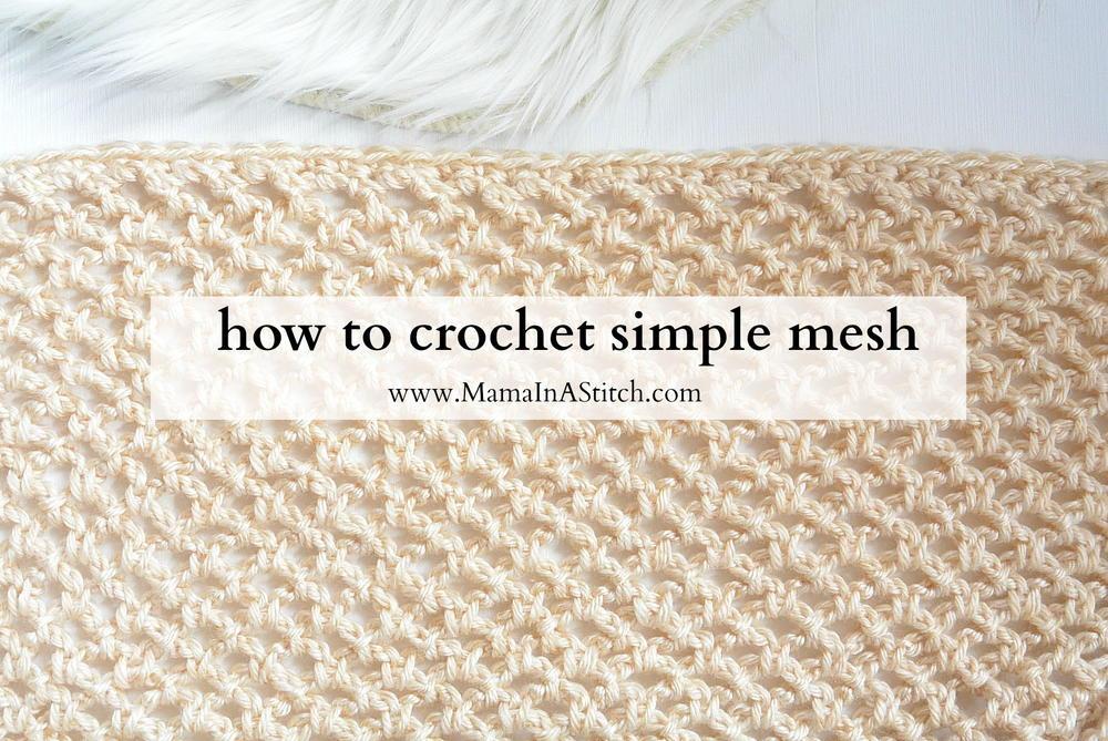 Mesh Stitch Project Allfreecrochet Com