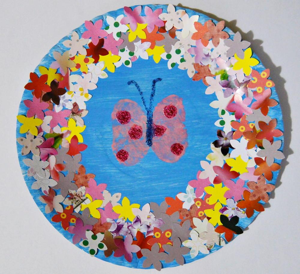 butterfly in spring garden craft